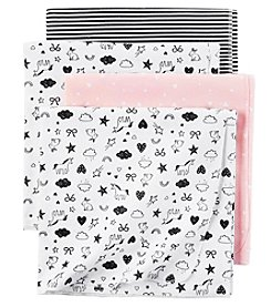 Carter's Baby Girls' 4-Pack Receiving Blanket