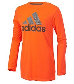 adidas® Boys' 4-20 Long Sleeve Badge of Sport Tee