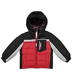 London Fog® Boys' 2T-4T Colorblock Puffer Jacket