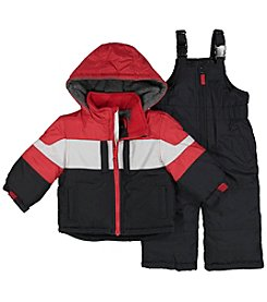 London Fog® Boys' 2T-7 Jacket with Snow Bibs