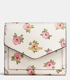 COACH SMALL WALLET IN FLOWER PATCH PRINT