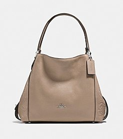 COACH EDIE SHOULDER BAG 31 WITH TEA ROSE TOOLING