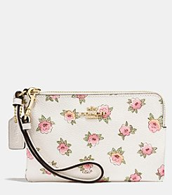 COACH SMALL WRISTLET IN FLOWER PRINT