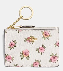 COACH MINI SKINNY ID CASE IN FLOWER PATCH PRINT