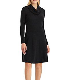 Chaps Cowl Neck Sweater Dress