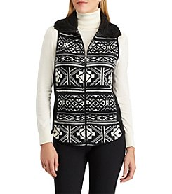 Chaps Nordic Patterned Fleece Vest