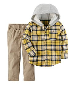 Carter's Boys' 3M-4T 2 Piece Long Sleeve Hooded Top And Pants Set