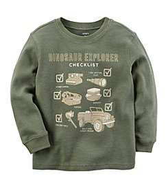 Carter's Boys' 12M-8 Long Sleeve Dino Explorer Tee