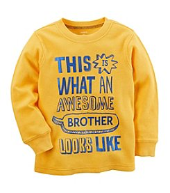Carter's Boys' 12M-8 Long Sleeve Awesome Brother Tee
