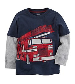 Carter's Boys' 12M-8 Long Sleeve Firetruck Tee