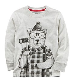 Carter's Boys' 2T-4T Long Sleeve Winter Bear Tee