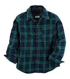 Carter's Boys' 2T-8 Long Sleeve Plaid Top