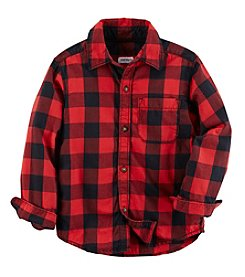 Carter's Boys' 2T-4T Long Sleeve Buffalo Plaid Top