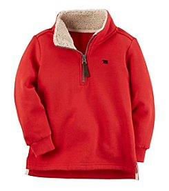 Carter's Boys' 2T-8 Fleece Half Zip Sweater