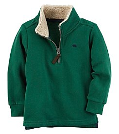 Carter's Boys' 2T-8 Long Sleeve Sherpa Half Zip Sweater
