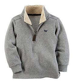 Carter's Boys' 2T-7 Long Sleeve Sherpa Half Zip Sweater