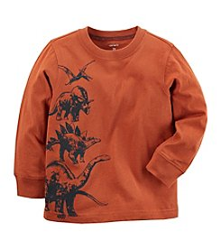 Carter's Boys' 12M-8 Long Sleeve Stacked Dino Tee
