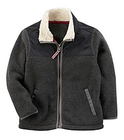 Carter's Boys' 2T-4T Long Sleeve Faux Sherpa Collar Jacket