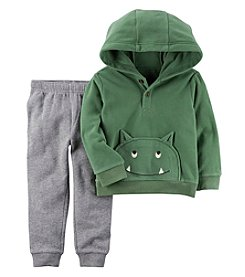 Carter's Boys' 2T-4T 2 Piece Long Sleeve Monster Hooded Top And Pants Set