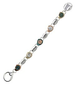 L&J Accessories Tri-Tone Patina Hope Wisdom Life Family Bracelet