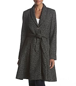 Ivanka Trump Single Button Belted Waist Coat