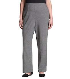 Alfred Dunner® Plus Size Houndstooth Knit Pants