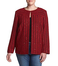 Alfred Dunner® Plus Size Sparkle Boucle Jacket