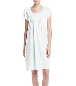 Miss Elaine Lace Trim Silky Nightgown