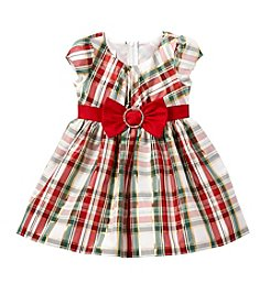 Bonnie Jean Girls' 2T-4T Short Sleeve Taffeta Dress With Bow