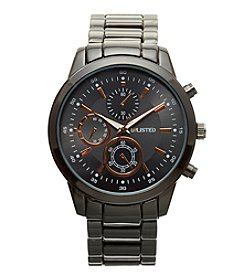 Unlisted by Kenneth Cole Men's Gunmetal Sport Watch