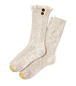GOLD TOE Girls' Cable Button Casual Crew Socks