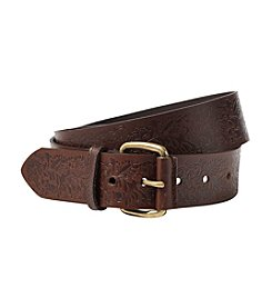 Fashion Focus Girls' Flower Embossed Belt