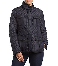 MICHAEL Michael Kors Quilted Stand Collar Coat