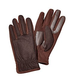 Isotoner Signature Men's SmarTouch Back Gathered Gloves