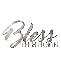 Stratton Home Decor Metal Bless This Home Wall Decor