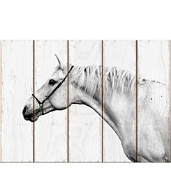 Artissimio Designs Portrait Of A White Horse Wall Art