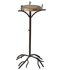 Ruff Hewn Large Metal Log Plant Stand