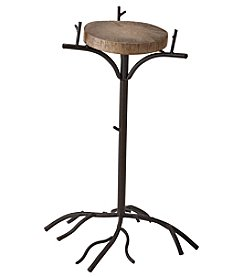 Ruff Hewn Medium Metal Log Plant Stand