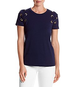 MICHAEL Michael Kors® Petites' Lace Sleeve Top