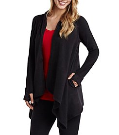 Cuddl Duds® Plus Size Fleece Hooded Wrap Cardigan