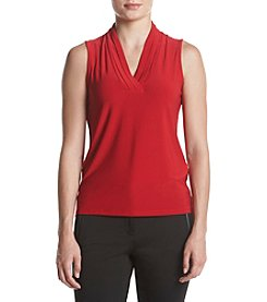 Anne Klein® Triple Pleat Top