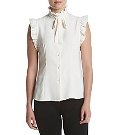 Anne Klein® Ruffle Bow Top