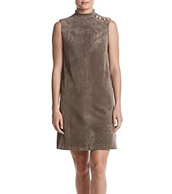 Ivanka Trump®  Faux Suede Shift Dress With Buttons