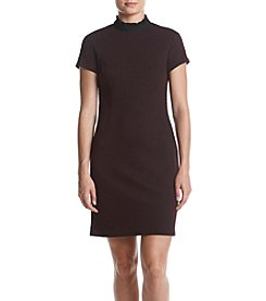 Ivanka Trump® Textured Sheath Dress With Ruffled Neck