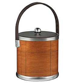 Kraftware American Artisan Ice Bucket with Leatherette Handle