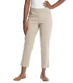 Briggs New York® Petites' Pullon Ponte Split Waist Pants