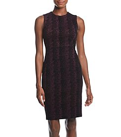 Calvin Klein Flocked Scuba Compression Dress