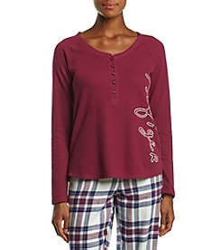 Tommy Hilfiger Henley Pajama Top