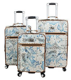 Chariot® Map 3-Piece Luggage Set