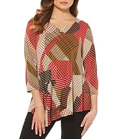 Rafaella® Diagonal Stripe Asymmetrical Hem Top